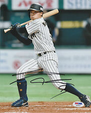 TAKUYA NAKASHIMA SIGNED AUTO'D 8X10 PHOTO PSA/DNA COA NIPPON HAM FIGHTERS C