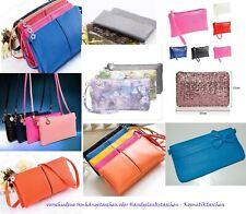 Damen Handtasche Umhängetasche Schulterriemen Viele Farben 76296 Schuhe