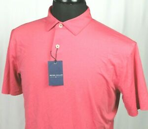 NEW! Men's Peter Millar Crown Crafted Red Stretch Polo Golf Shirt Medium NWT!
