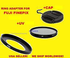 ADAPTER RING S1+UV FILTER+LENS CAP apt to CAMERA FUJI FINEPIX S1 67mm