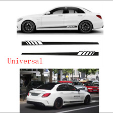 Pair Car Graphics Both Side Body Vinyl Sticker Sports Racing Long Stripe Decals