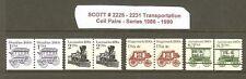 US Scott # 2225 - 2231 1986-90 Transportation Coil Pairs MNH