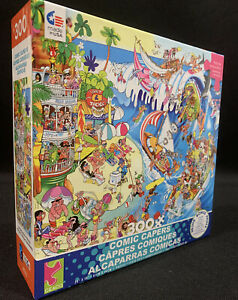 """Comic Capers The Wave 300 Pieces Puzzle Jigsaw 24""""x18"""" With Poster New"""