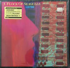 A FLOCK OF SEAGULLS - LISTEN - 1983 W/HYPE STICKER Vinyl LP