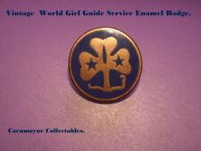 World Girl Guide Service Enamel Badge.AH0468.