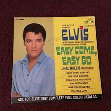 45 RPM  Elvis Presley RCA VICTOR EP 4381 Easy Come Easy Go Soundtrack VG+