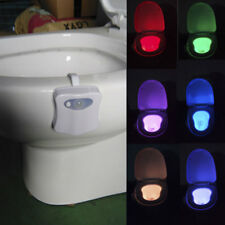 8-Color LED Toilet Night Light Human Motion Sensor Bowl Seat Sensing Glow Bulb