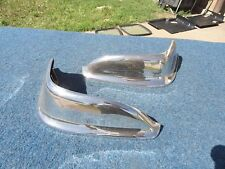1955 55 Chrysler REAR BUMPER WING TIPS Solid Pair New Yorker 300