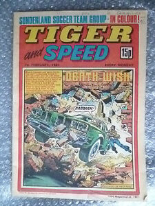 Comic- Tiger and Speed Comic, 7th February 1981; Death Wish..........