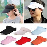 Men Women Sun Visor Adjustable Sport Tennis Golf Cap Headband Outdoor Hat Unisex