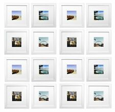 Smartphone Frames Collection,Set of 16, 8x8-inch Square Photo Wood Frames,white