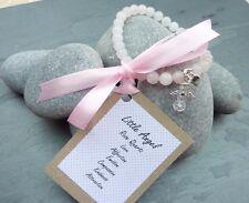 Little Angel Charm Rose Quartz Harmony Friendship Bracelet REIKI Pink Wedding