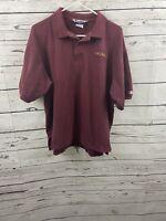 Vintage Champion USC Trojans Mens NCAA Polo Maroon Gold Sz XL Short Sleeve Shirt