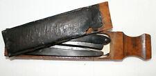 Boîte aiguiseur et deux coupe-choux marqués Bouché