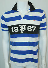 Polo Ralph Lauren Striped Rugby Polo Blue White Black Stripes  NWT M
