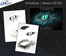Step by Step Airbrush Stencil AS-145 M ~ Template ~ UMR-Design