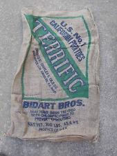 "1 Qty - 24"" x 40"" Light Damaged Burlap Potato Sack/Bag Rat Rod, Sack Race, Feed"