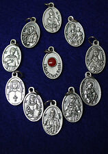 Wonderful Rare Collection of RELIC Saint Medals - Catholic Religious Medals