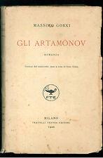 GORKI MASSIMO GLI ARTMAMONOV TREVES 1926