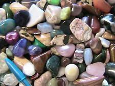 TUMBLED STONES Polished 1/2Lb Mix Assorted Agate,Jasper,Quartz,Obsidian,& others