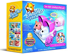 ZHU ZHU Pets Baby Hamster Stroller Two Seater New in Box Free Shipping Pink
