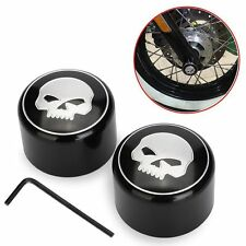 CNC Skull Front Axle Nut Cover Cap for Harley Sportster XL883/1200/48