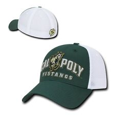 NCAA Cal State Poly University Mustangs  Structured Mesh Flex Baseball Caps Hats