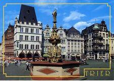 Postkarte Trier Fotokunst Schwalbe: 2/21 Hauptmarkt mit Steipe und Petrusbrunnen