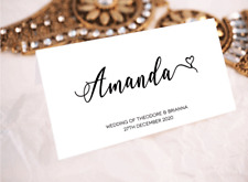 Wedding Placecards Name Personalised Guest Name Custom ESCORT Name Table R5