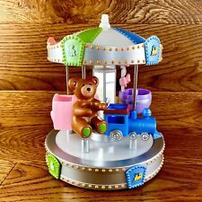 """Rare Mga Entertainment 8"""" Musical Carousel Merry go Round Wind Up Spins Round"""