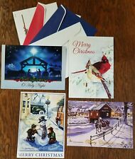 Set of four high quality, assorted Christmas Cards with matching envelopes