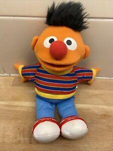 """Hasbro Sesame Street Ernie 2010 Plush Stuffed Doll Soft Toy Teddy 9.5"""" Tall (a15"""