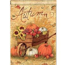 12X18'' Autumn Pumpkin Cart Garden Flags Fall Sunflower Leaves Mini Banner Decor