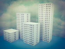 10 Floor OFFICE city LUXURY APARTMENT Building - N Scale 1:160 - Fully Assembled