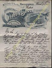 1903 MACCLESFIELD Cheshire, Wood & Sons, Corn Merchant King Edward Rd Corn Mills