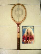 "Tracy Austin Spalding Wood Racquet + ""Beyond Center Court-My Story"" Book"