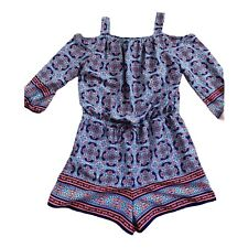 My Michelle Girls Romper Blue Coral Size XL Patterned