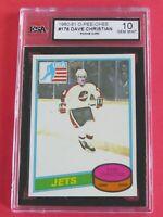 1980-81 OPC O-Pee-Chee Dave Christian RC # 176, Winnipeg Jets, KSA 10 GEM MINT