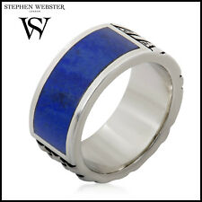 Stephen Webster Alchemy in the UK Silver and Genuine Lapis Union Jack Band Ring