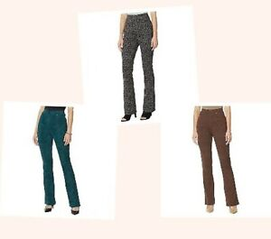 DG2 by Diane Gilman Women's Pull-On Stretch Boot-Cut Ponte Pants Jeggings