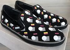 750$ Jimmy Choo Grove Black Mix Leather Slip on Shoes size US 8, Made in Italy