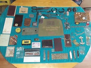 GRANDPAS OLD JUNK DRAWER LOT MILITARILY, KNIVES, JEWELRY & MUCH MORE ESTATE FIND