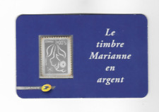 Rare timbre France N°3925 Type Marianne Lamouche Argent 5 euro Neuf Luxe inversé