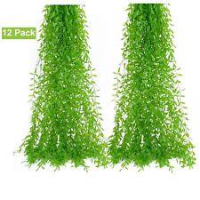 12Pcs Artificial Wedding Flower Silk Vine Fake Gree Garland for Home Party Decor