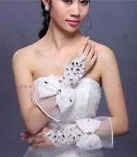 Novia guantes Gloves guantes novia joyas boda Wedding bordadas satén