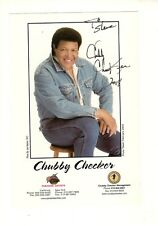Chubby Checker autographed 4x6 color photo Legendary Singer To Steve