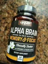 Onnit Alpha Brain Memory Focus 90 Caps FRESH!! Mfg date 1/2019 FRESH!! FRESH!!