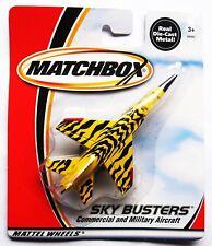 2000 Matchbox Sky Busters Mig-21 Tiger Meet Jet Yellow Diecast Vintage NEW