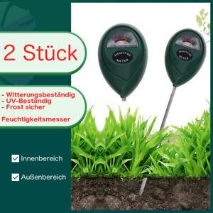 2x Feuchtigkeitsmesser Boden Messgerät Hydrometer Pflanzen Innen und Außenbreich