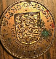 1945 ISLAND OF JERSEY 1/12 OF A SHILLING